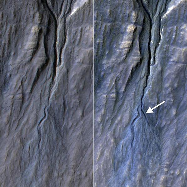 Марс,геология, На Марсе обнаружен таинственный «канал»