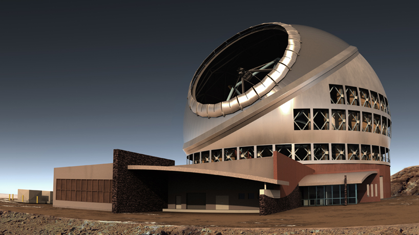 TMT телескоп Гавайи вид сбоку