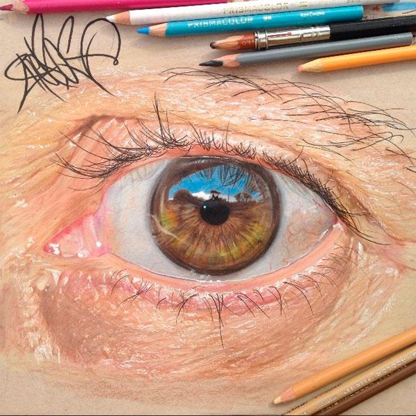 иллюстрации,Art,гиперреализм, Гиперреалистичные рисунки глаз от Хосе Антонио Лопеса