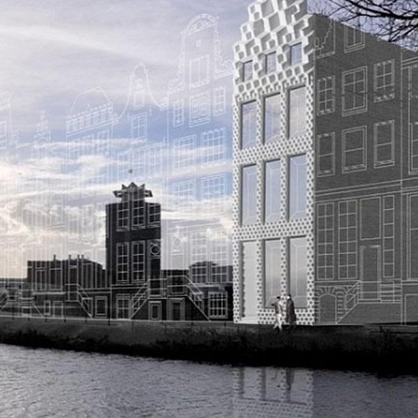 3D-печать, 3D, архитектура, В Амстердаме строится дом, напечатанный в 3D-принтере