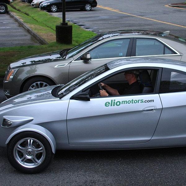 Elio, автомобили, Elio - трехколесный автомобиль будущего