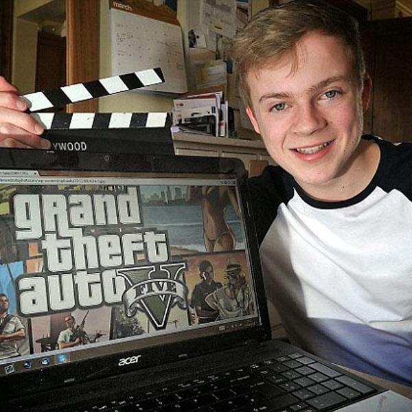 GTA 5, YouTube, успех, Старшеклассник из Британии зарабатывает $24000 в год, играя в GTA V