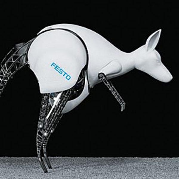 Робот,бионика, Бионический кенгуру копирует настоящего