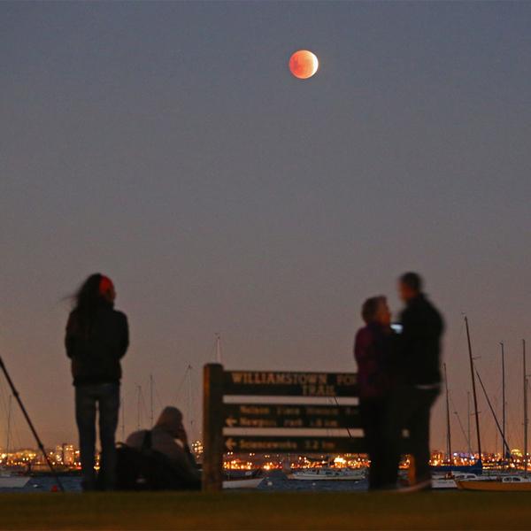 Луна,затмение, Восход кровавой Луны, для тех, кто все пропустил
