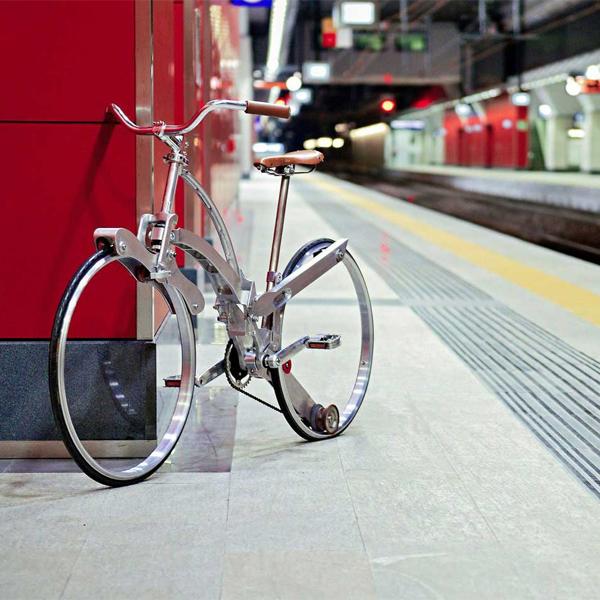 велосипед,зонтик,прототип, Новый складной велосипед по размерам напоминает зонтик