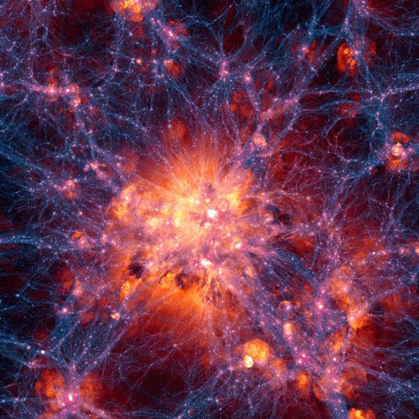 Вселенная,космос,визуализация,симуляция, Модель Вселенной воссоздает эволюцию космоса
