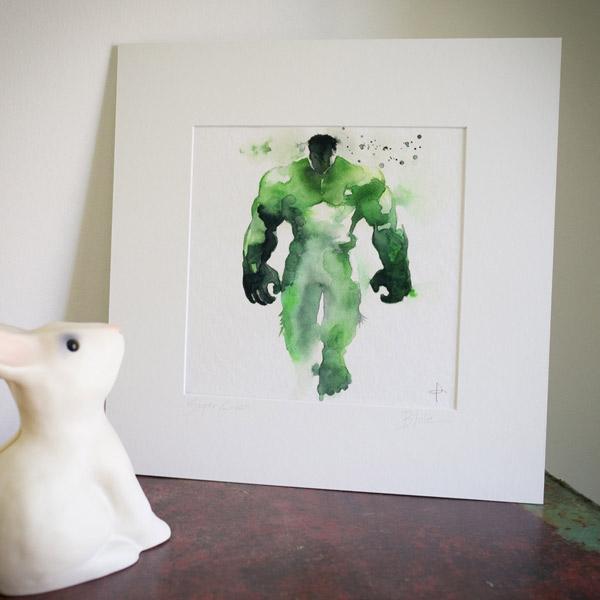 Рисунок акварель супергерои