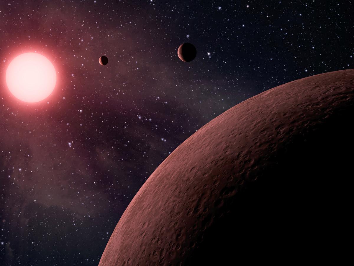 Система Kepler-42 в представлении художника