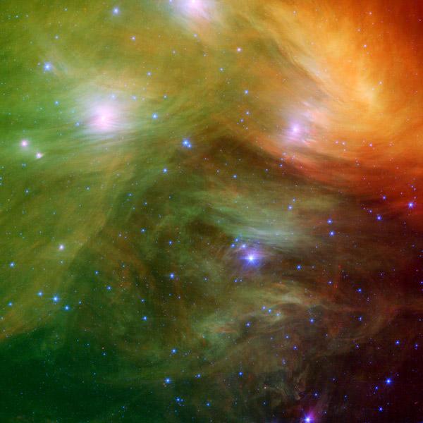 Вселенная,Spitzer,туманность, Великолепная инфракрасная астрономия от космического телескопа Spitzer