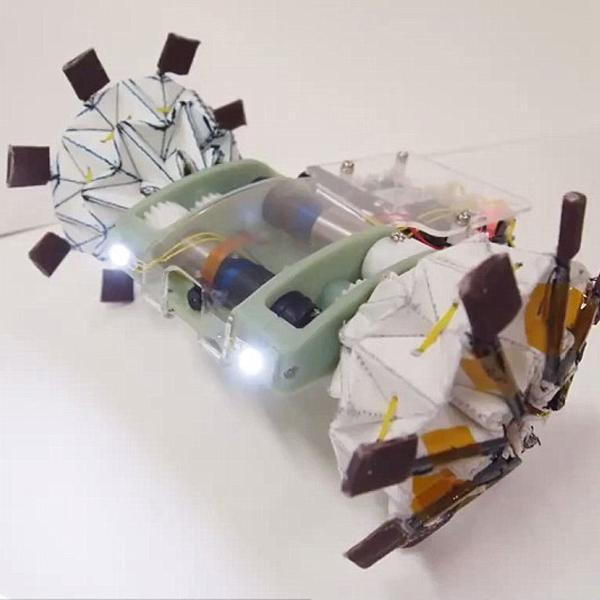 Оригами,робот, Робот-оригами умеет принимать форму, подходящую для любого пространства