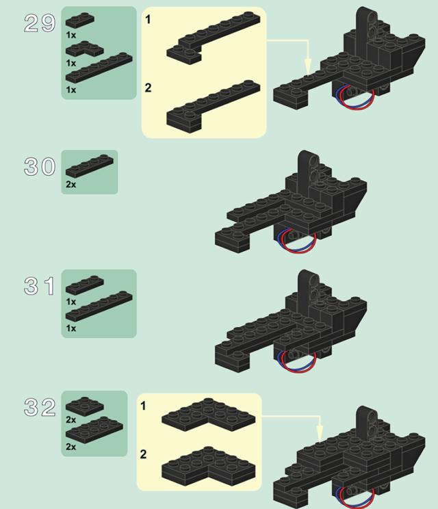 Инструкция по сборке пистолета из LEGO