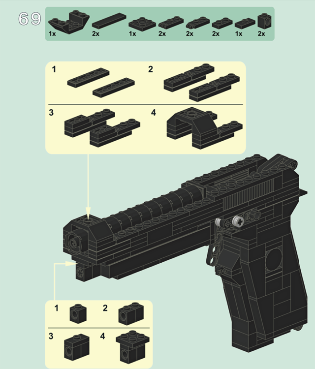 Пистолет из лего инструкция