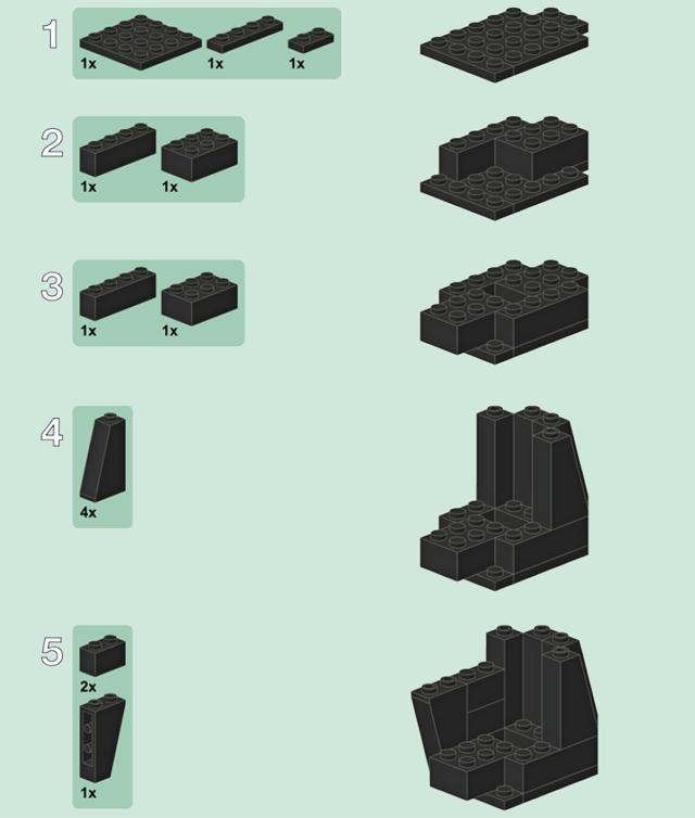 как сделать дробовик из лего инструкция